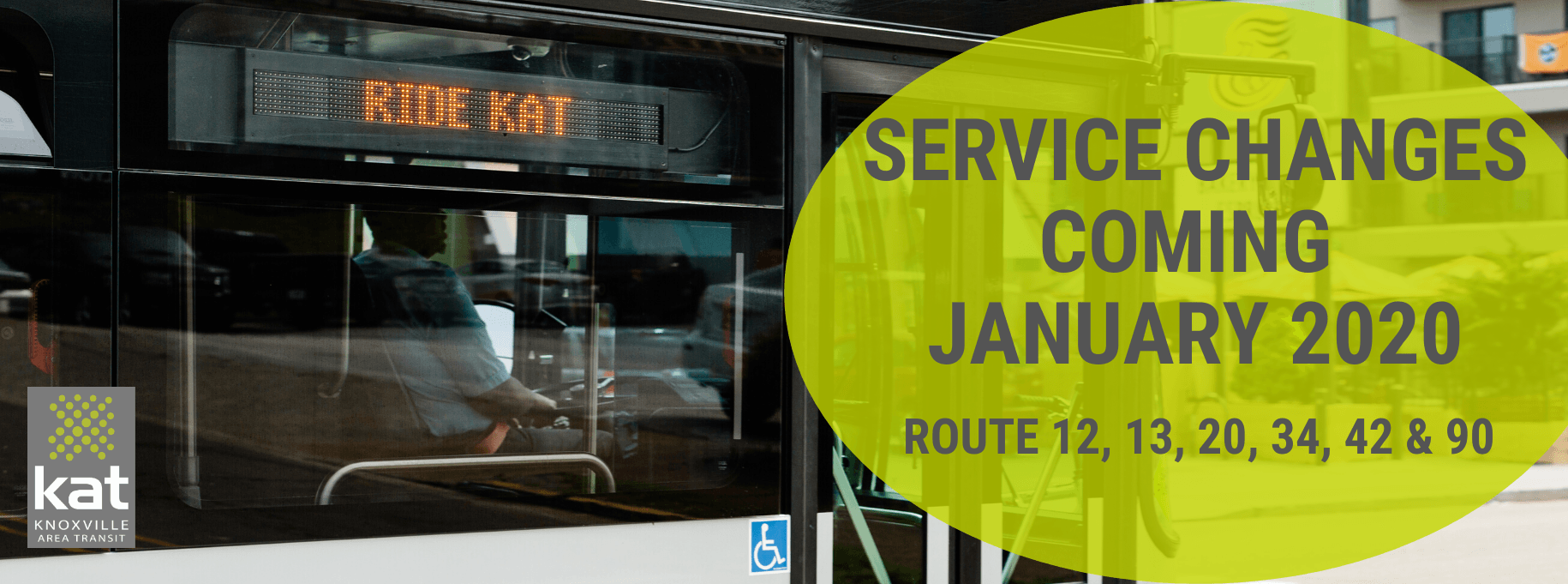 January 2020 Service Changes